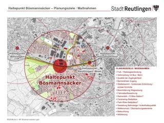 Haltepunkt Bösmannsäcker – Planungsziele / Maßnahmen