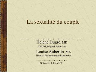 La sexualit� du couple