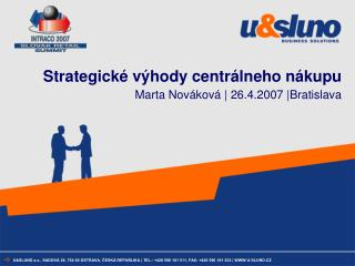 Strategické výhody centrálneho nákupu