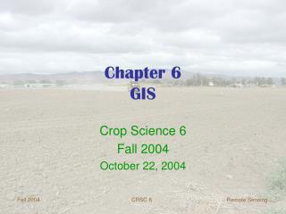 Chapter 6 GIS