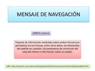 MENSAJE DE NAVEGACIÓN