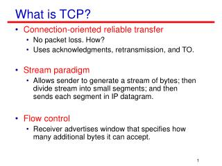 What is TCP?