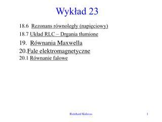 Wykład 23