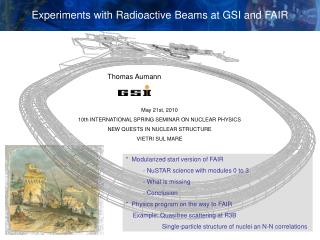 Experiments with Radioactive Beams at GSI and FAIR