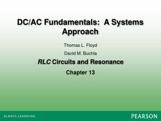 RLC  Circuits and Resonance