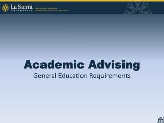 Academic Advising General Education Requirements