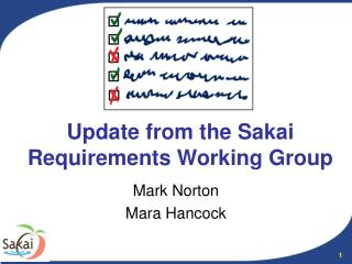 Update from the Sakai Requirements Working Group