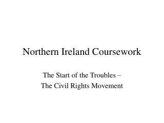 Northern Ireland Coursework