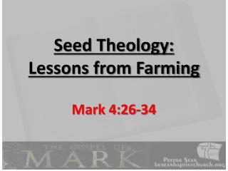 Seed Theology:  Lessons from Farming