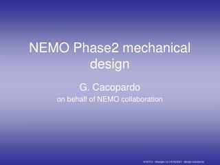 NEMO Phase2 mechanical design