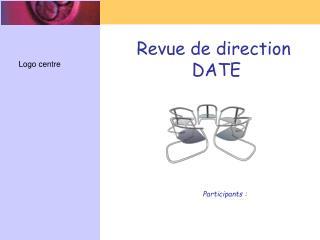 Revue de direction   DATE