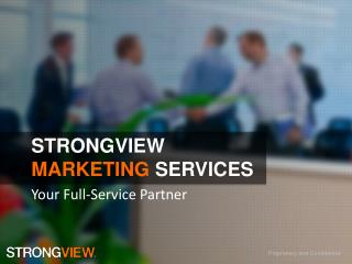StrongVIEW Marketing  Services