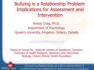 Bullying is a Relationship Problem: Implications for Assessment and Intervention
