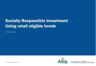 Socially  R esponsible Investment Using retail eligible bonds