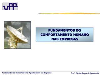 FUNDAMENTOS DO COMPORTAMENTO HUMANO NAS EMPRESAS