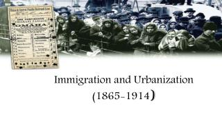Immigration and Urbanization  (1865-1914 )