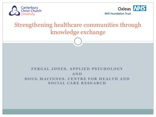Strengthening healthcare communities through knowledge exchange