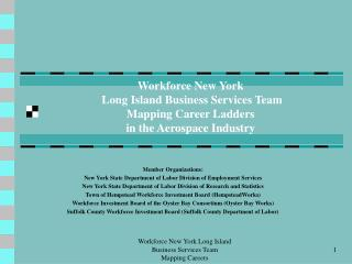 Member Organizations: New York State Department of Labor Division of Employment Services