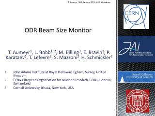 ODR Beam Size Monitor