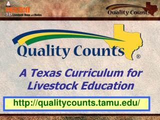 A Texas Curriculum for Livestock Education