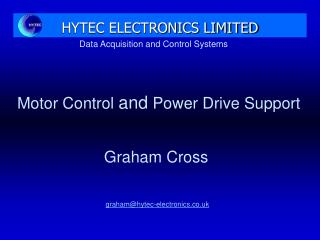 Data Acquisition and Control Systems