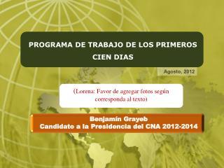 PROGRAMA DE TRABAJO DE  LOS PRIMEROS CIEN DIAS