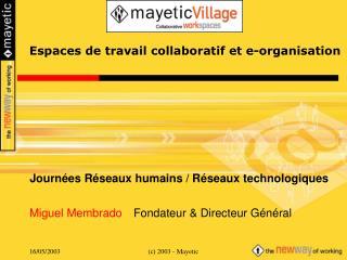 Espaces de travail collaboratif et e-organisation