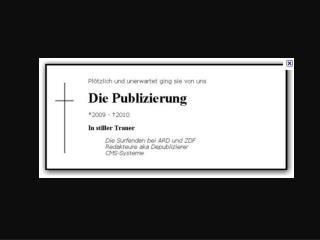 ZAPP: Vom Publizieren zum De-Publizieren