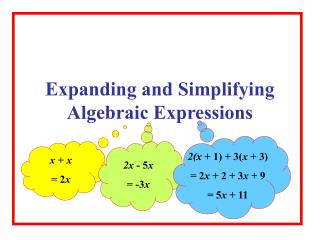 Expanding and Simplifying Algebraic Expressions