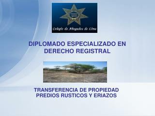 DIPLOMADO ESPECIALIZADO EN DERECHO REGISTRAL
