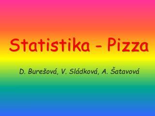 Statistika - Pizza