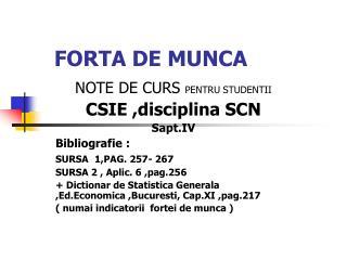 FORTA DE MUNCA