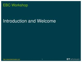 EBC Workshop