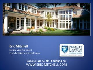 Eric Mitchell Senior Vice-President Emitchell@eric-mitchell