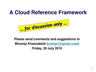 A Cloud Reference Framework