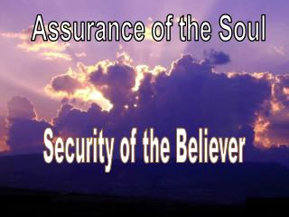 Assurance of the Soul