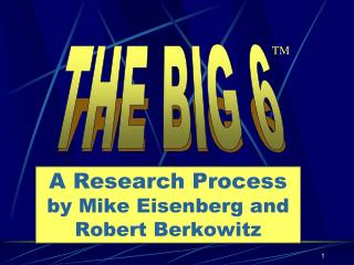 A Research Process by Mike Eisenberg and Robert Berkowitz