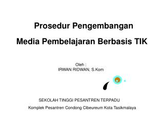 Prosedur Pengembangan  Media Pembelajaran Berbasis TIK