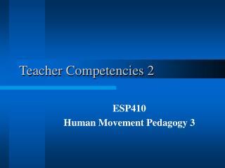 Teacher Competencies 2
