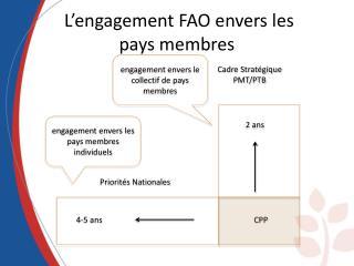 L'engagement FAO envers les  pays membres