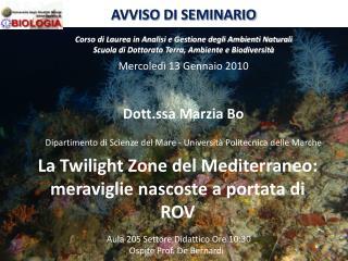 La Twilight Zone del Mediterraneo: meraviglie nascoste a portata di ROV