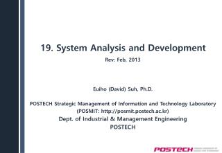 19 .  System Analysis and Development