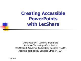 Creating Accessible PowerPoints with LecShare