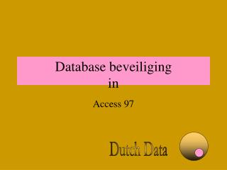 Database beveiliging in