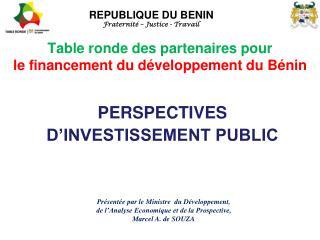 Table ronde des partenaires pour le financement du d�veloppement du B�nin
