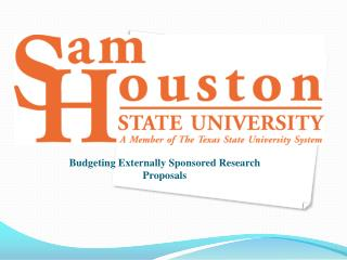 Budgeting Externally  Sponsored Research Proposals