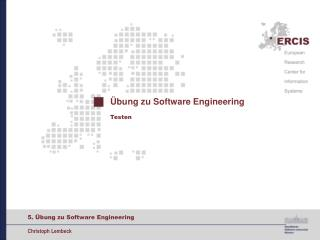 Übung zu Software Engineering