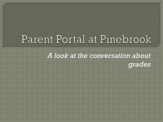Parent Portal at Pinebrook