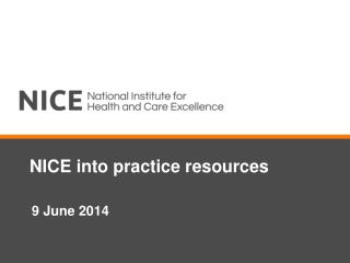 NICE into practice resources