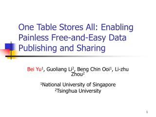 One Table Stores All: Enabling Painless Free-and-Easy Data Publishing and Sharing